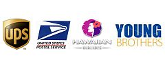 US Mail, UPS, HawaiianAir, YoungBros